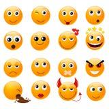Set of orange smiles Royalty Free Stock Photo