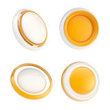 Set of orange template buttons isolated Stock Photography