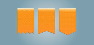 Set of web ribbons  with pattern Stock Images