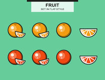 Set of oranges and grapefruits Royalty Free Stock Images