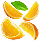 Set of oranges isolated on the white background Royalty Free Stock Images