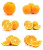 Set of oranges isolated on white Royalty Free Stock Photos