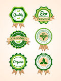 Set of organic badges and labels Stock Image