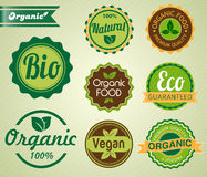 Set of organic badges and labels Royalty Free Stock Photo