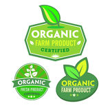 Set of organic-bio labels Stock Images