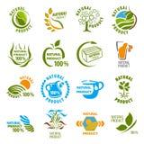 Set of organic-bio labels Stock Photography