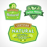 Set of organic-bio-natural  labels Stock Images