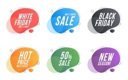 Set organic design  Icon discounts royalty free illustration