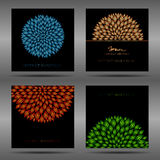 Set of organic flyers. Royalty Free Stock Photography