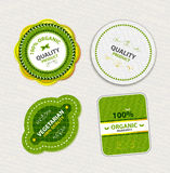 Set of organic food badges and labels Royalty Free Stock Image