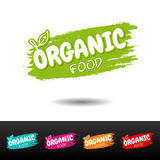 Set of Organic food badges. Royalty Free Stock Images