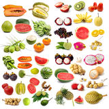 Set of organic fruit Royalty Free Stock Photos