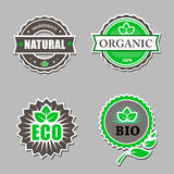 Set of organic labels - stickers for natural Royalty Free Stock Photography
