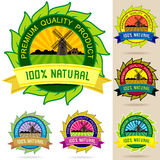 Set of Organic Logos, Stickers , Badges and Labels Royalty Free Stock Photo