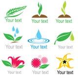 Set of organic symbols Stock Photo