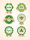 Set organicznie etykietki i odznaki royalty ilustracja