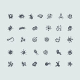 Set of organisms icons Stock Images