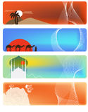 Set from orient banner. Set from 4 orient banner Stock Photography