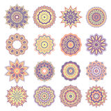 Set of Oriental Abstract Elements Royalty Free Stock Images