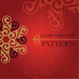 Set of Oriental and Asian patterns. Stock Photo