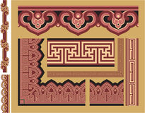 Set of Oriental Borders and Frames Stock Photos