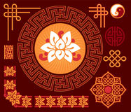 Set of Oriental - Chinese - Design Elements Royalty Free Stock Photos
