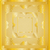 Set of oriental chinese golden square frames on pattern golden. Set of traditional oriental chinese golden square frames on pattern golden background for Royalty Free Stock Images