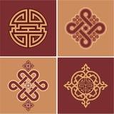 Set of Oriental Design Elements. Set of Oriental Chinese Design Elements royalty free illustration
