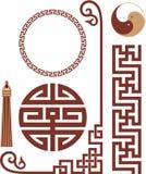 Set of Oriental Design Elements. Vector Set of Oriental Chinese Design Elements royalty free illustration