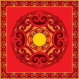 Set of Oriental Design Elements. Frame and Rosettes stock illustration