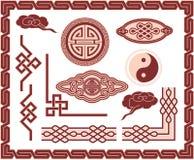 Set of Oriental Design Elements. Including Vector format stock illustration