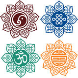 Set of Oriental Design Elements Royalty Free Stock Photo
