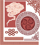 Set of Oriental Design Elements Stock Images