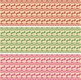 Set of oriental henna pattern horizontal banners Stock Photo