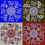 Set of oriental ornaments royalty free stock images