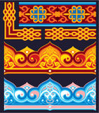 Set of Oriental Seamless Borders Stock Photos