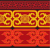 Set of Oriental Seamless Borders Stock Image