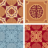 Set of Oriental Seamless Patterns Royalty Free Stock Photos
