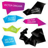 Set of  origami Royalty Free Stock Image