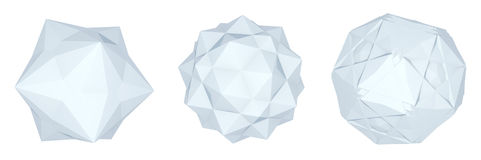 Set of origami ball. Set of 3d origami ball Royalty Free Stock Image