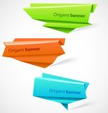 Set of origami banners Stock Images