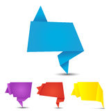 Set of origami banners Stock Photography