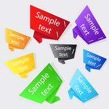 Set of origami labels Stock Photos