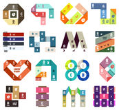 Set of origami modern design templates Royalty Free Stock Images