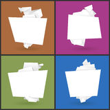 Set of 4 origami paper banners Stock Image