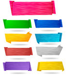 Set of origami paper banners.Vector. Royalty Free Stock Photos