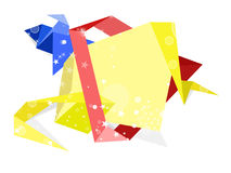 Set of origami paper banners.Vector background Royalty Free Stock Photography