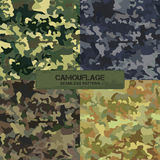 Set of original camouflage patterns. Seamless backgrounds Royalty Free Stock Photography