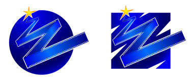 Set of original characters, logos film industry Stock Photo