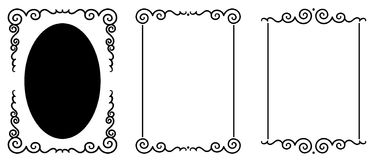Set of original decorative frames Stock Photography